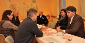 """Workshop I der """"Zukunftswerkstatt Alzey 2020″ mit MdL Heiko Sippel (SPD, rechts) in der """"Alten Post"""" – Foto: SPD/mth"""